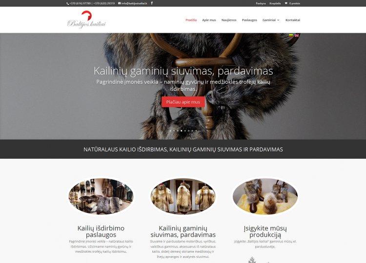 Baltijos kailiai - Natūralaus kailio išdirbimas, kailinių gaminių siuvimas ir pardavimas