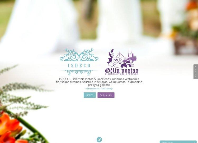 ISDECO - išskirtinis Inetos Sukackienės kuriamas vestuvinės floristikos dizainas, stilistika ir dekoras